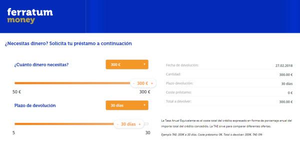 300 euros al 0% de interes