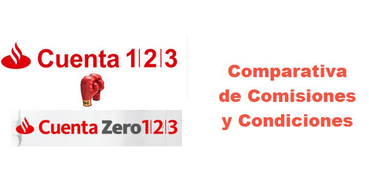 cuenta 123 cuenta zero 123 comparativa