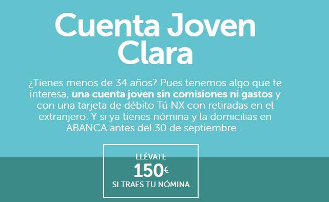 Cuenta Joven Clara Abanca