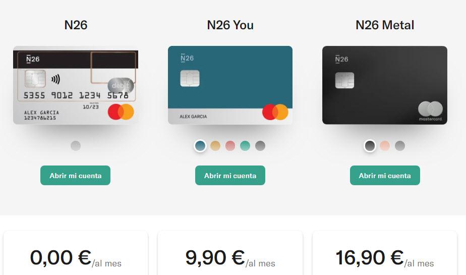 banco n26 precios