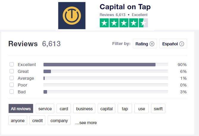 capital on tap opiniones y comentarios de cliente sobre la tarjeta para empresas